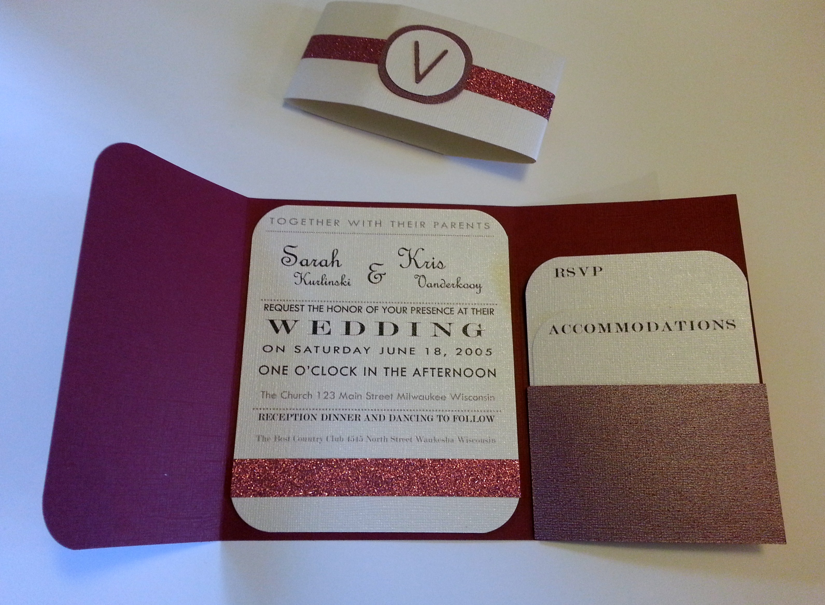 Folded Pocket Wedding Invitation - Creative Ramblings