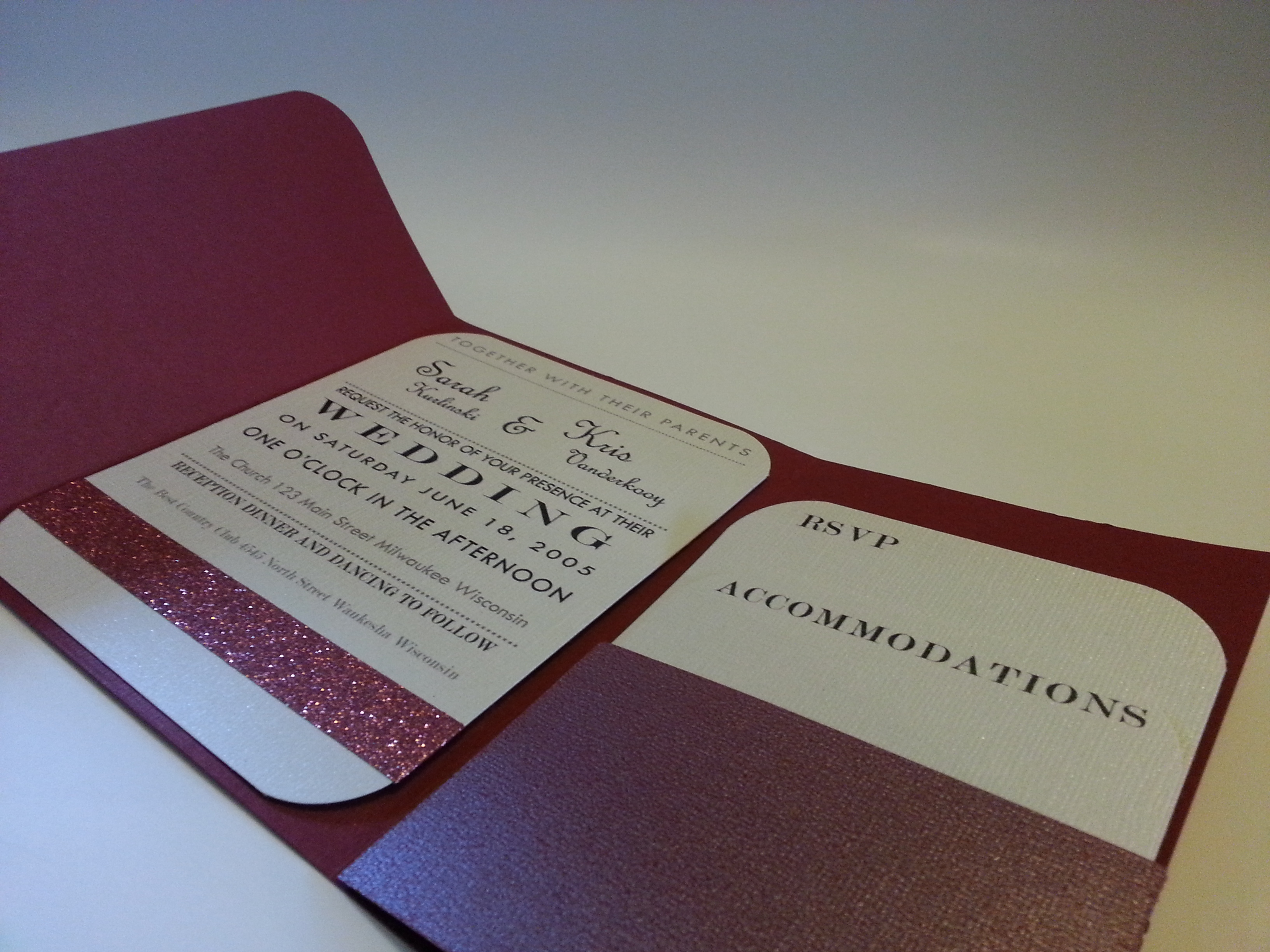 Folded Pocket Wedding Invitation Creative Ramblings