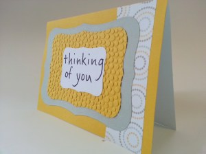 Thinking of you yellow and gray card