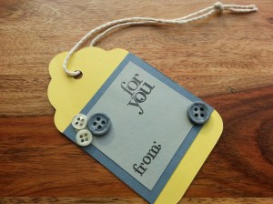 Yellow and Gray Gift Tag