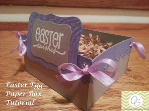 easter egg paper box tutorial