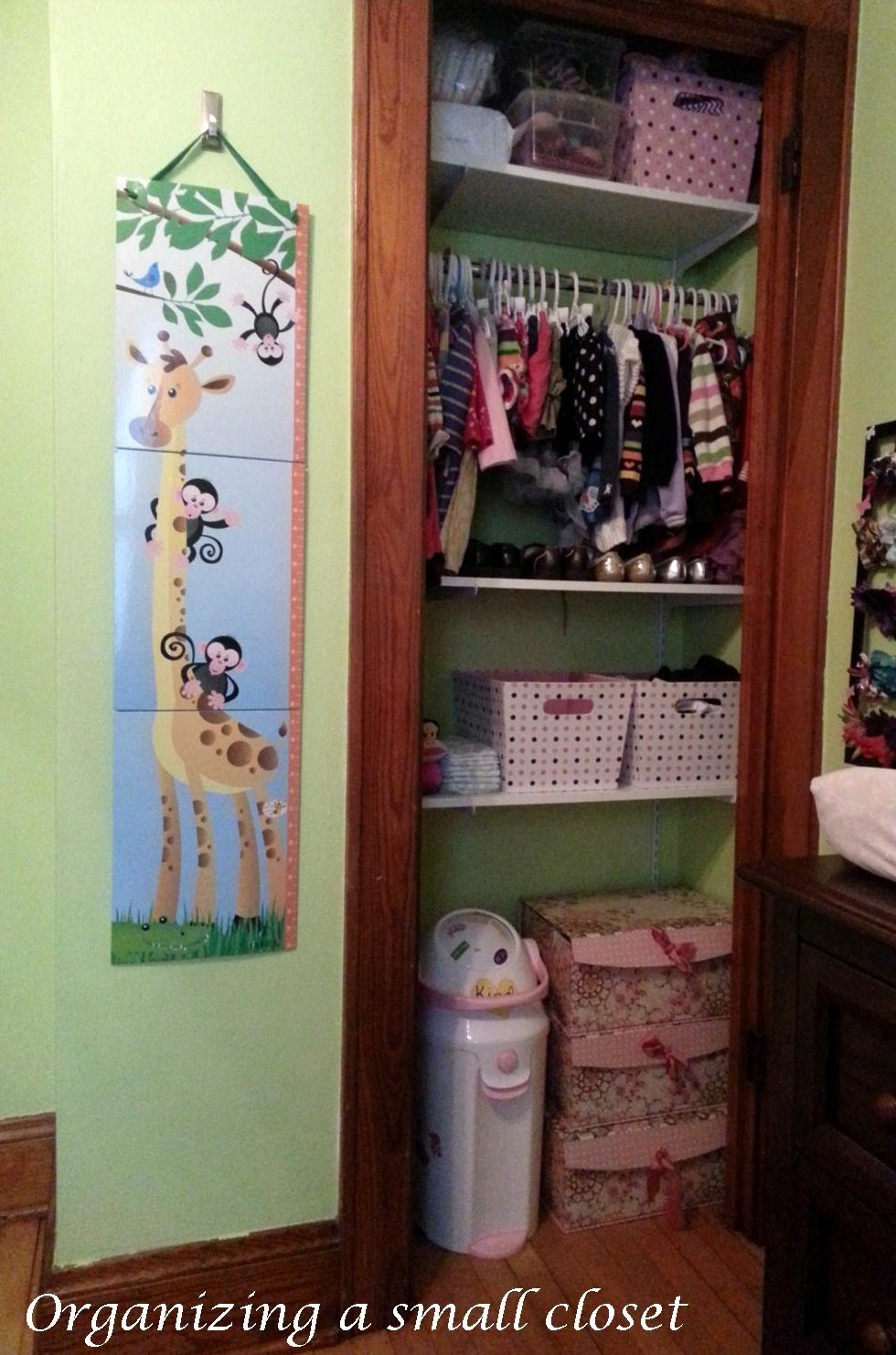 How To Organize A Small Nursery Closet