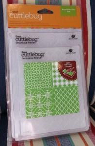 Cuttlebug Decorative Tile Set