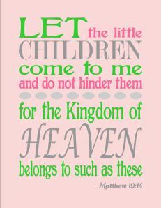 FREE Matthew 19:14 pink printable