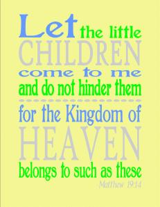 FREE Matthew 19:14 yellow printable
