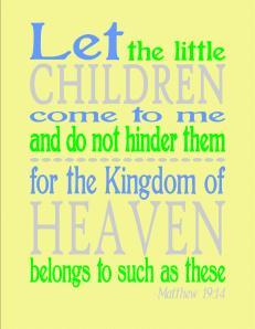 FREE Matthew 19:14 yellow printable
